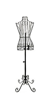 Female Black Steel Wire Mannequin Dress Form