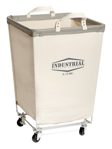 Seville Classics Commercial Heavy-Duty Canvas Laundry Hamper with Wheels