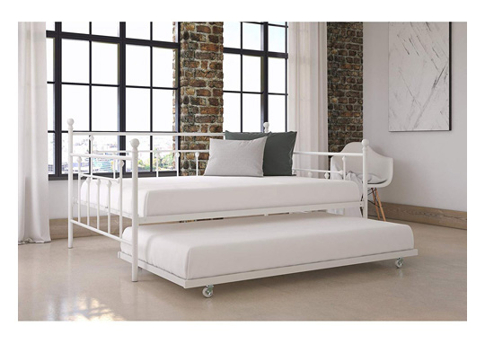 Charlton Home McCarthy Elegant Metal Daybed with Trundle