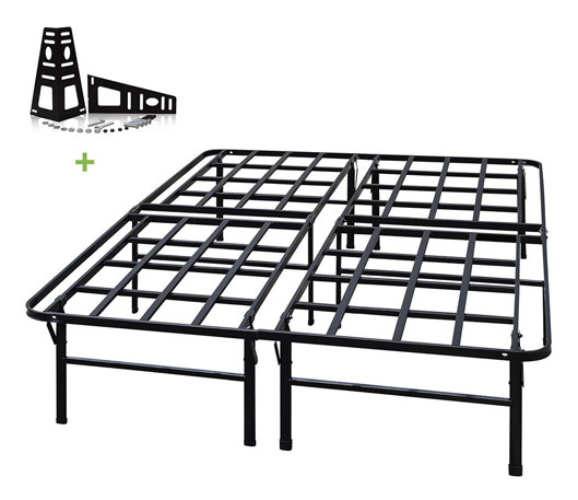 TATAGO 3000lbs Max Weight Capacity 16 Inch Tall Heavy Duty Platform Bed Frame