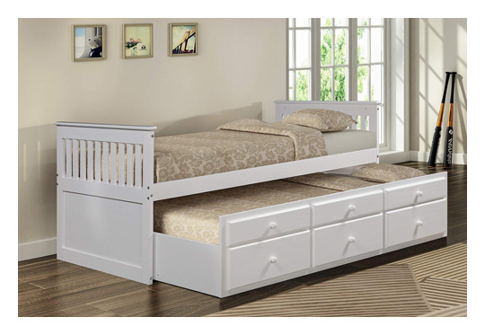 Merax captain storage bed with drawers