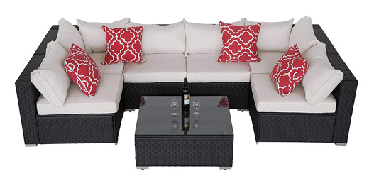 Do4U Patio Sofa 7-Piece Set Outdoor Furniture
