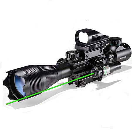 XOPin Hunting Rifle Scope Combo C4-16x50EG Dual Illuminated