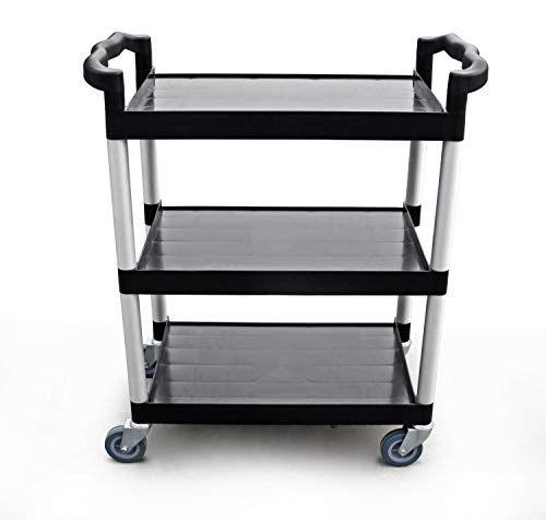 New Star Foodservice 54538 250-Pound Plastic 3-Tier Utility Bus Cart