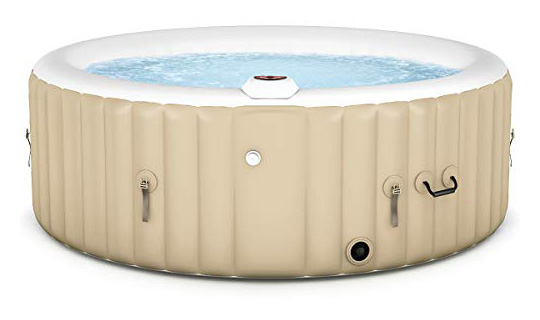 Goplus 4-6 Person Outdoor Spa Inflatable Hot Tub for Portable Jets