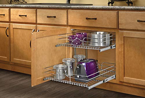 Rev-A-Shelf - 5WB2-2122-CR Base Cabinet Pull-Out Chrome Wire Basket