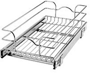 Rev-A-Shelf - 5WB1-1222-CR Base Cabinet Pull-Out Chrome Wire Basket