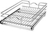 Rev-A-Shelf - 5WB1-1522-CR Base Cabinet Pull-Out Chrome Wire Basket