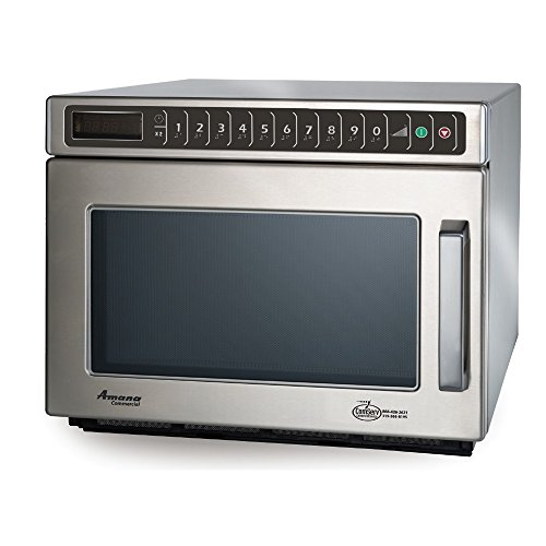 Amana Commercial HDC182 Amana Heavy Duty Compact Commercial Microwave Oven, 1800W