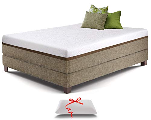 Full Gel Memory Foam Mattress - Bonus Memory Foam Pillow - Comfortable