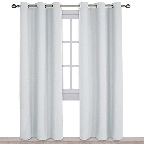 NICETOWN Thermal Insulated Easy Care Solid Grommet Room Darkening Curtains/Drapes