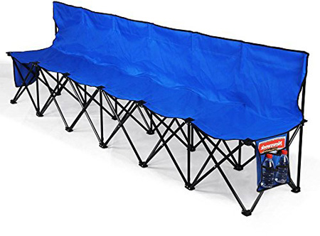 Topeakmart 600D Oxford Double Layer Fabric Folding Sport Bench