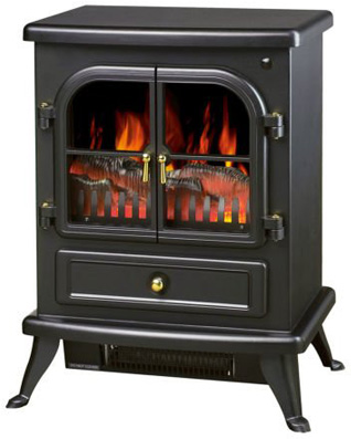 New 1500W Freestanding Electric Fireplace Adjustable Heater Flame Portable