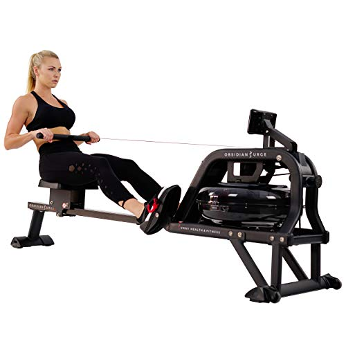 Sunny Health & Fitness Water Rowing Machine Rower w/LCD Monitor