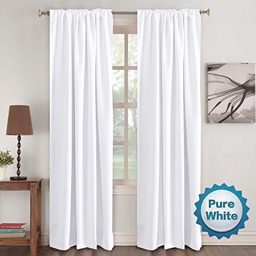 Window Treatment Insulated Thermal Back tab/Rod Darkening Curtains