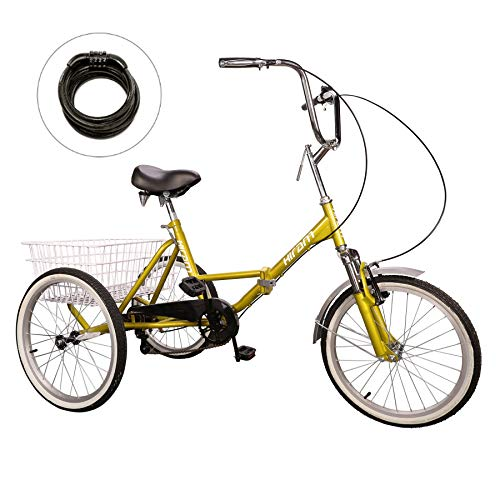 Hiram Adult Tricycle Trike Cruise Bike Three-Wheeled Bicycle with Large Size Basket for Recreation
