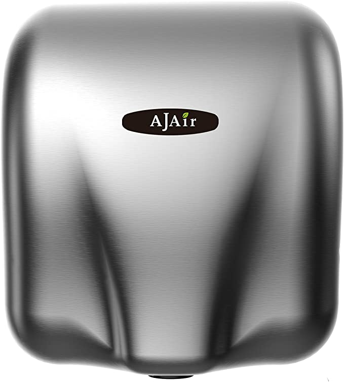 AjAir® Heavy Duty Commercial 1800 Watts Automatic Hot Hand Dryer – Stainless Steel Ajair Hand Dryer