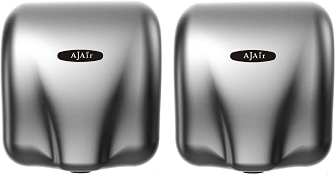 AjAir 2 Pack Commercial 1800W Heavy Duty Automatic Hot High-Speed Hand Dryer