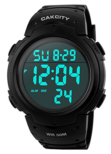 Men Watch LED Digital Sports Screen with Large Face