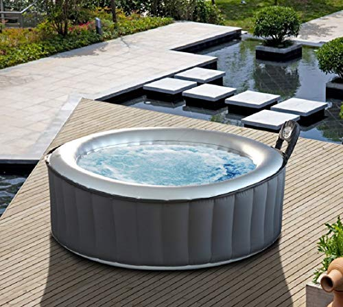 MSPA Lite Silver Cloud Relaxation and Hydrotherapy Spa Round 6 Person M-021LSd