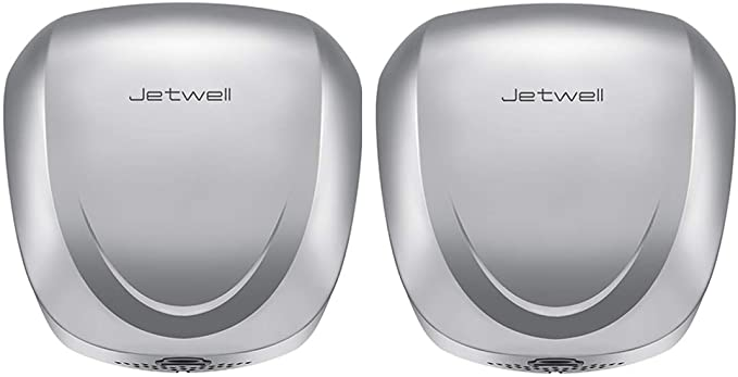 JETWELL 2Pack Commercial Automatic High-Speed Dryer Stainless Steel
