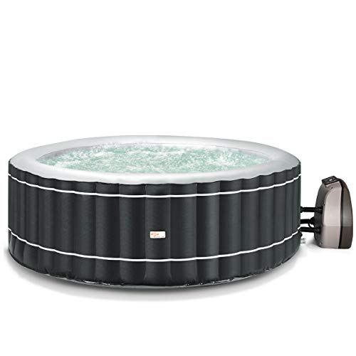 Goplus 4-6 Person Inflatable Hot Tub Portable Outdoor Spa Bubble Jet Massage Spa
