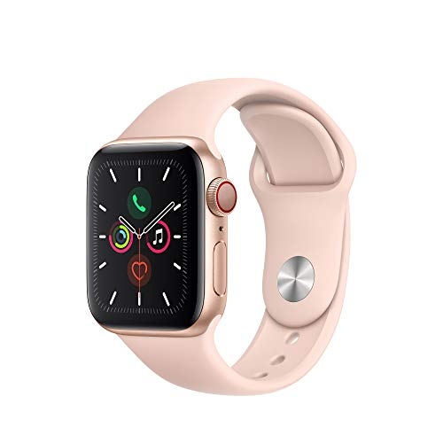 Apple Watch Gold Aluminum Series 5 Case Pink Band