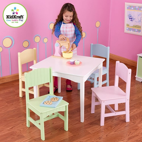 Kidkraft Nantucket Table and Paster Chairs