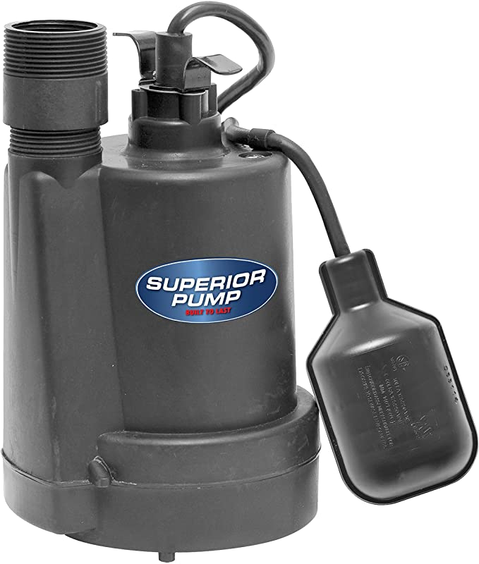 Superior Pump 92250 Sump Pump with Tethered Float Switch