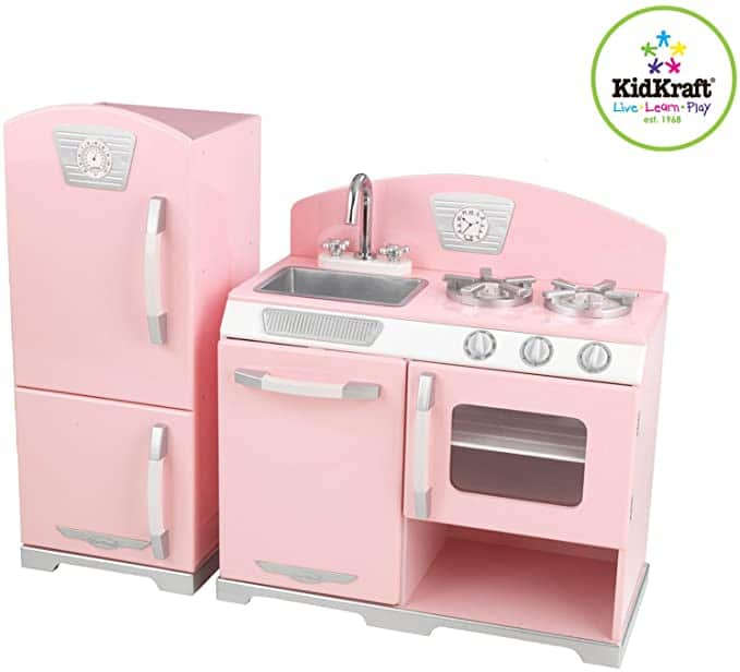 Pink Retro Kitchen and Refrigerator