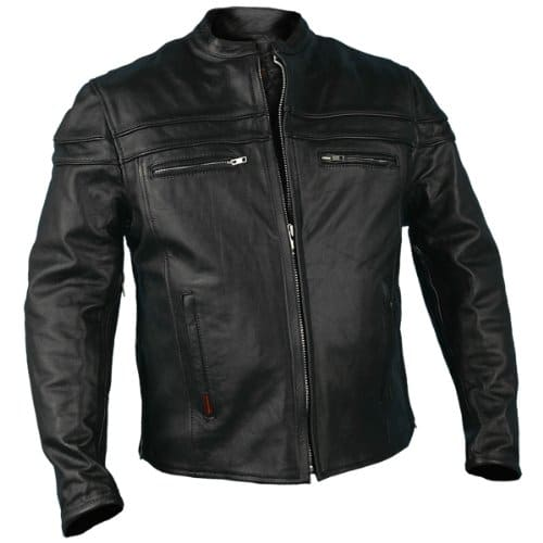 Hot Leathers Heavyweight Jacket Men's Double Piping