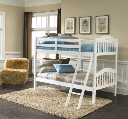 Storkcraft Solid Hardwood LongHorn White Twin Beds
