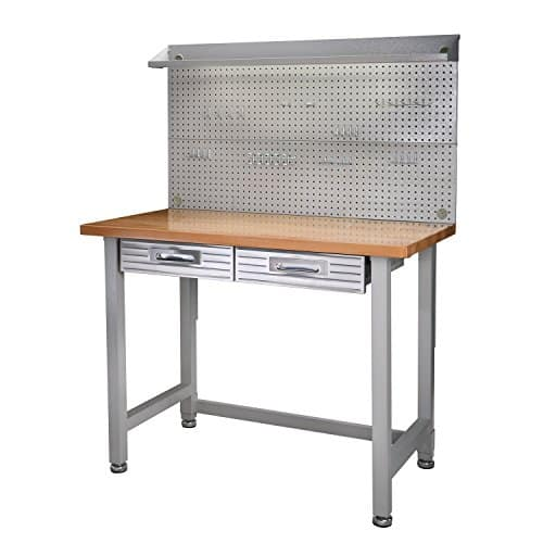 Seville Classics (UHD20247B) UltraHD Lighted Workbench Stainless Steel