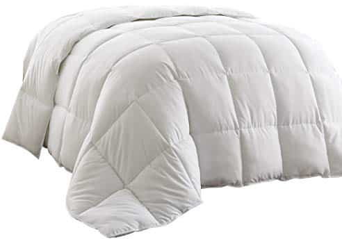 Chezmoi Collection White Goose Down Alternative Comforter Corner Tab
