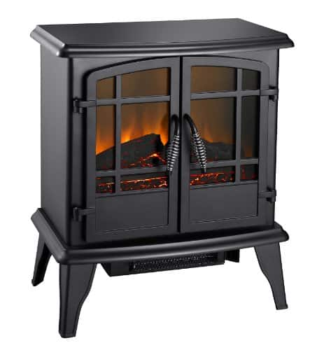 Pleasant Hearth Electric Stove-Matte Black Finish