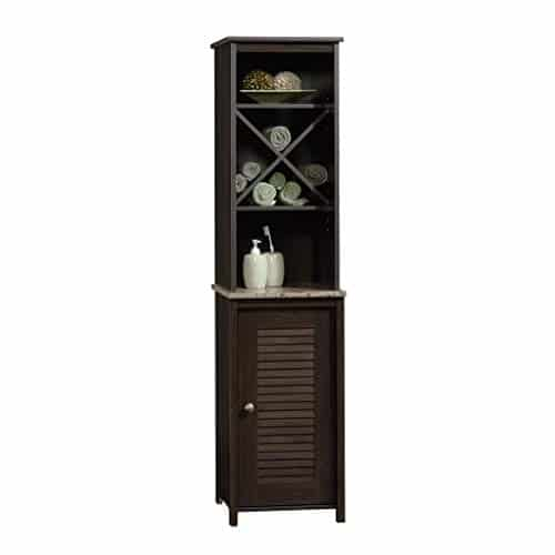 Sauder Peppercorn Linen Tower, Cinnamon Cherry finish