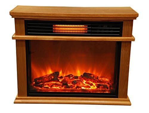 Lifesmart Easy Large Room Infrared Fireplace Deluxe Mantle