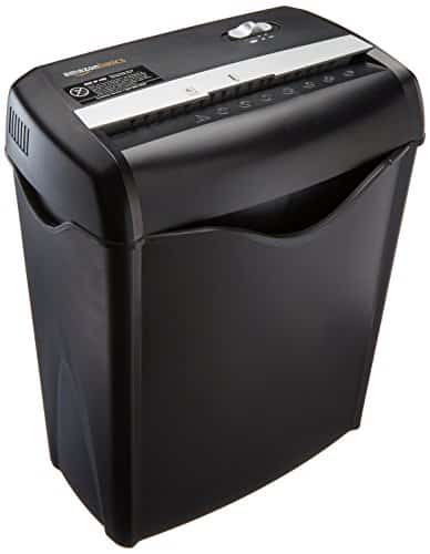 AmazonBasics 6-Sheet Cross-Cut Paper and Credit Card Home Office Shredders