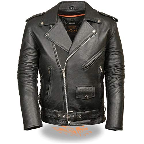 MILWAUKEE LEATHER Side Lace Men's Classic Motorcycle