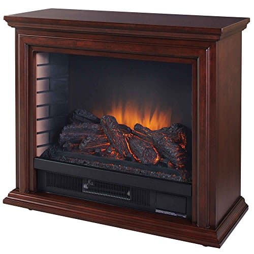 Pleasant Hearth Sheridan Mobile Cherry Electric Fireplace