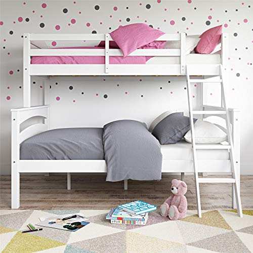 Dorel Living Twin/Full Brady Solid Wood Kids Bunk Ladder White