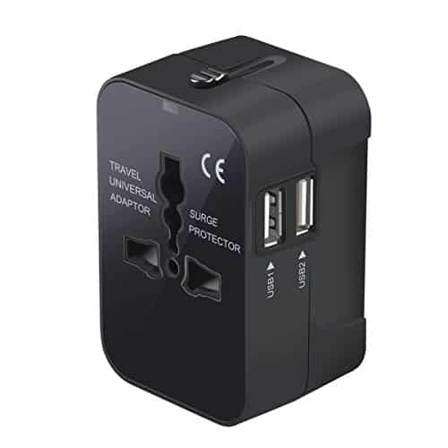 Travel Adapter, Worldwide All in One AC Power Adapter Wall Charger