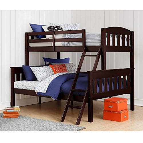 Dorel Living Solid Wood Twin Bunk Beds Ladder Guard Rail