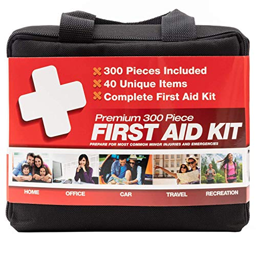 M2 BASICS (40 Unique Items) 300 Piece Kit w/Bag First Aid