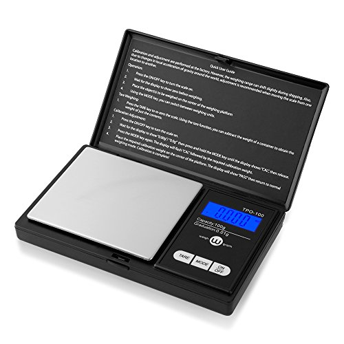 Weigh Gram Pocket Scale Scale Digital 100g Digital Food Scale Grams Scale, Jewelry Scale Kitchen Scale Black