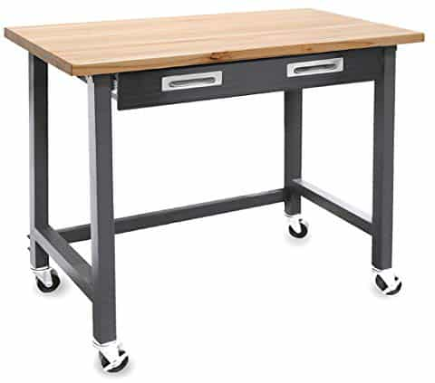 Seville Classics UltraGraphite Wood Top Workbench on Wheels
