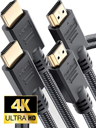 PowerBear 4K HDMI Cable Braided Nylon & Gold Connectors