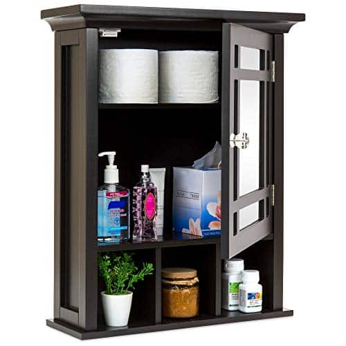 Best Choice Products Home Bathroom Vanity Mirror Wall Organizational Storage