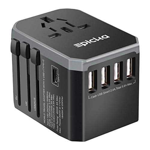EPICKA Universal Travel Plug Adapters One International Wall Charger AC
