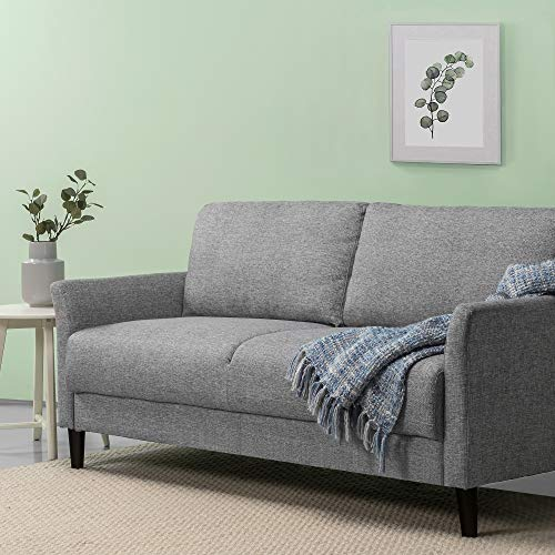 Zinus Jackie 71 Inch Classic Upholstered Sofa Living Soft Grey Room Couch
